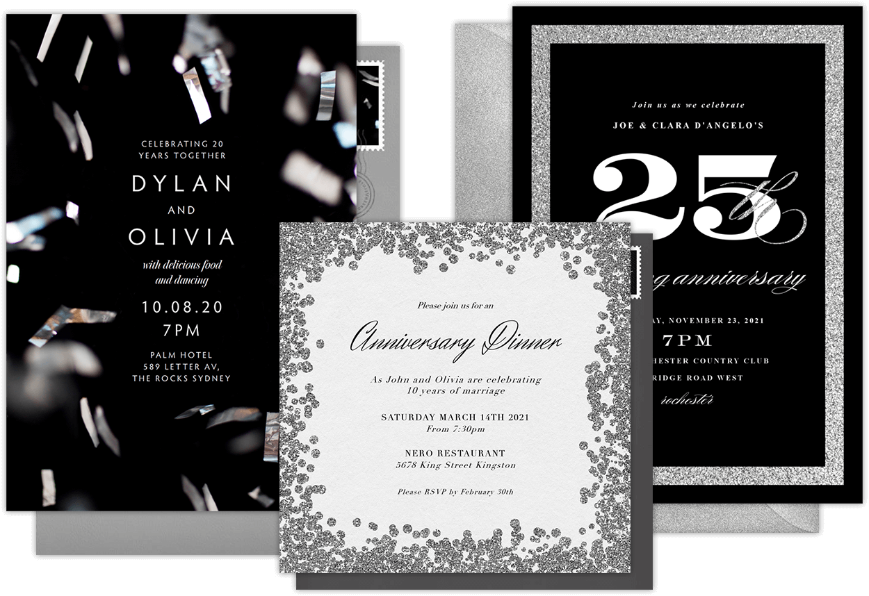 Email Online Anniversary Invitations That WOW