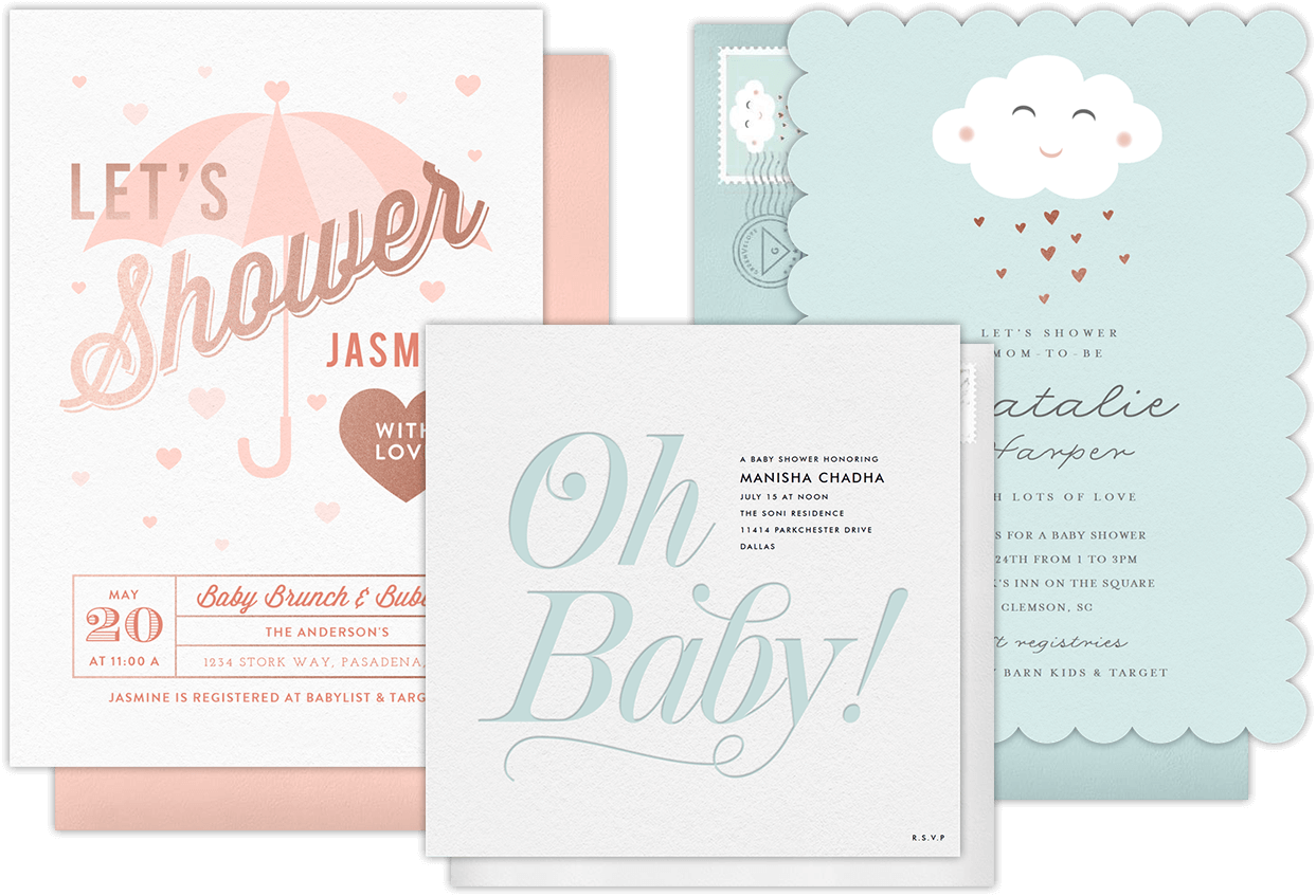 Email Online Baby Shower Invitations That WOW Greenvelopecom - Save the date baby shower email template free