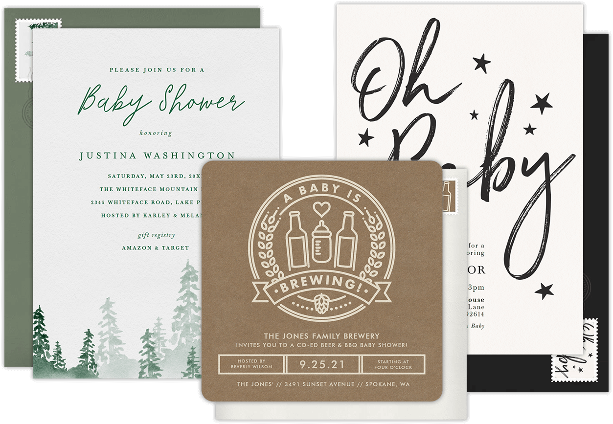 Email Online Baby Shower Invitations That WOW Greenvelopecom - Gift registry card template free