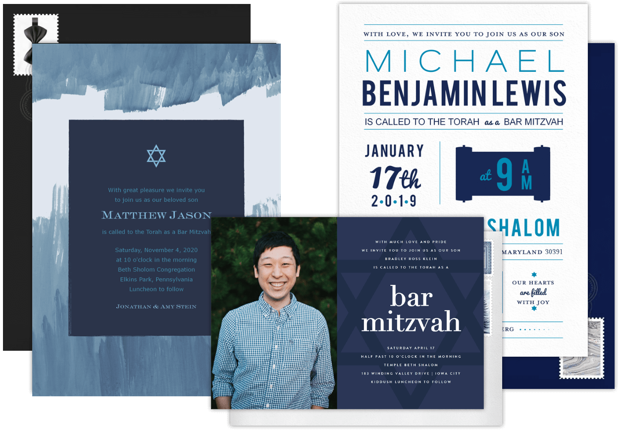 Email Online Bar Mitzvah Invitations That Wow Greenvelope