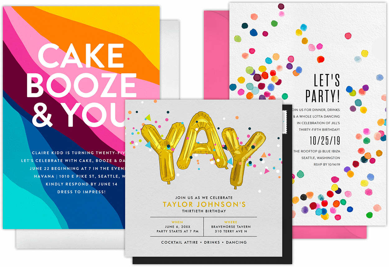 Email Online Birthday Party Invitations