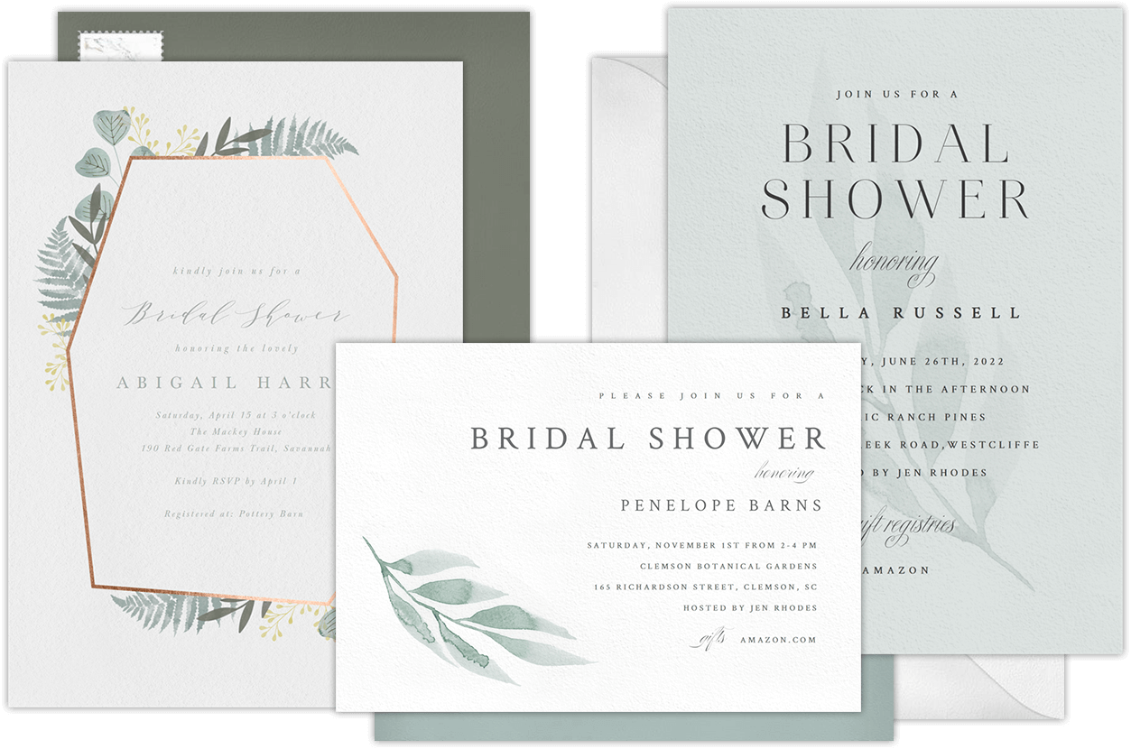 Email Online Bridal Shower Invitations
