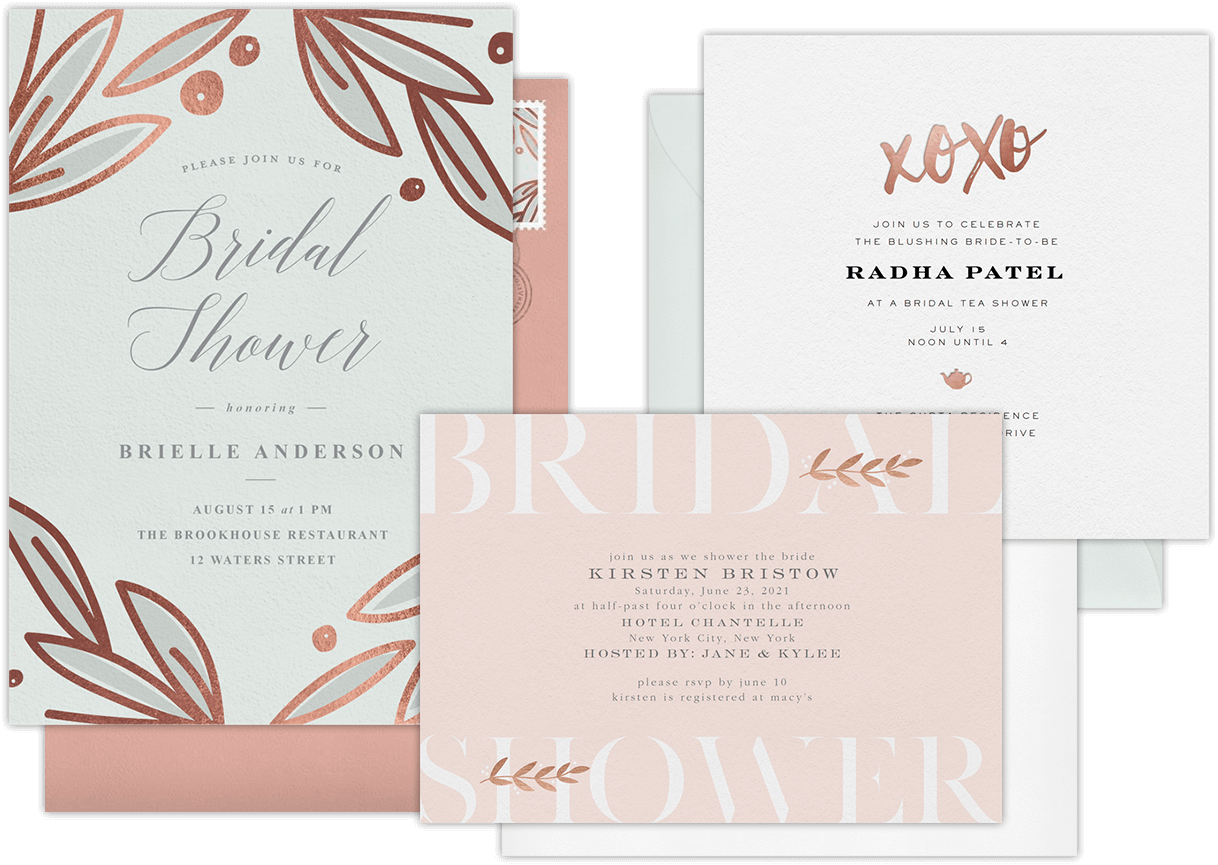 Email online bridal shower invitations that wow greenvelope bridal shower invitations stopboris Gallery
