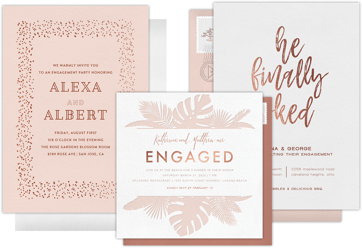 Email Online Engagement Party Invitations That Wow
