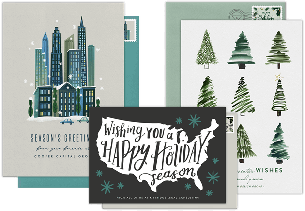 Email online business holiday cards that wow greenvelope business holiday cards colourmoves