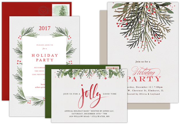 email online business holiday party invitations that wow
