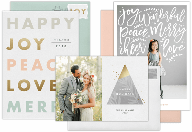 PERSONALIZED HOLIDAY GREETING CARDS AND ANNOUNCEMENTS