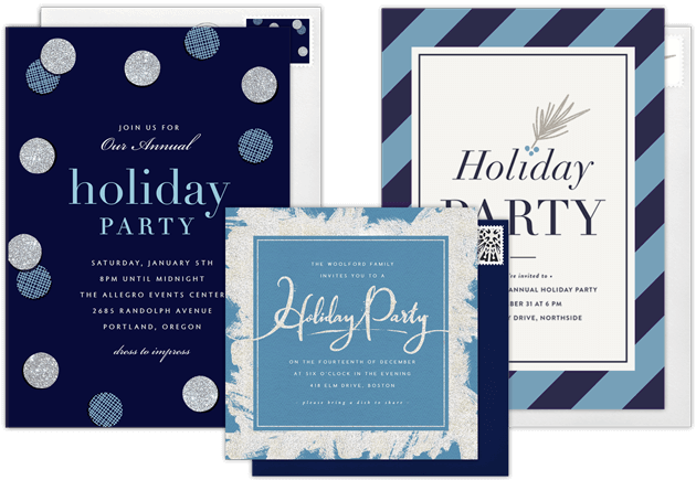 Email online holiday party invitations that wow greenvelope holiday party invitations stopboris Gallery