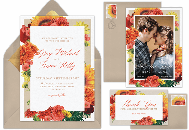 Email online wedding invitations that wow greenvelope wedding invitations stopboris Image collections