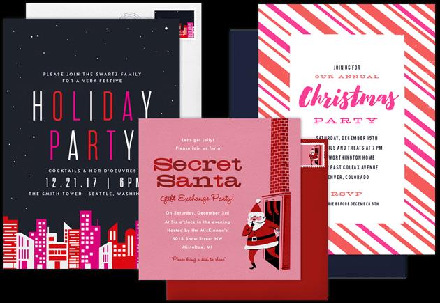 Holiday Party Invitations